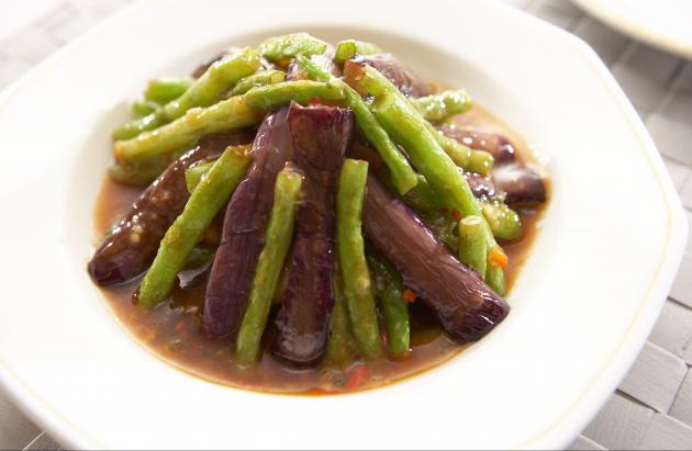 紫茄豆角蔬 1