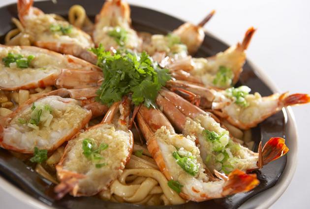 蒜茸粄條蒸草蝦 1